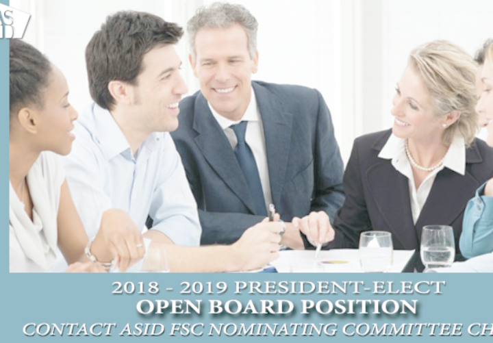 2018-2019 President Elect Open Board Position