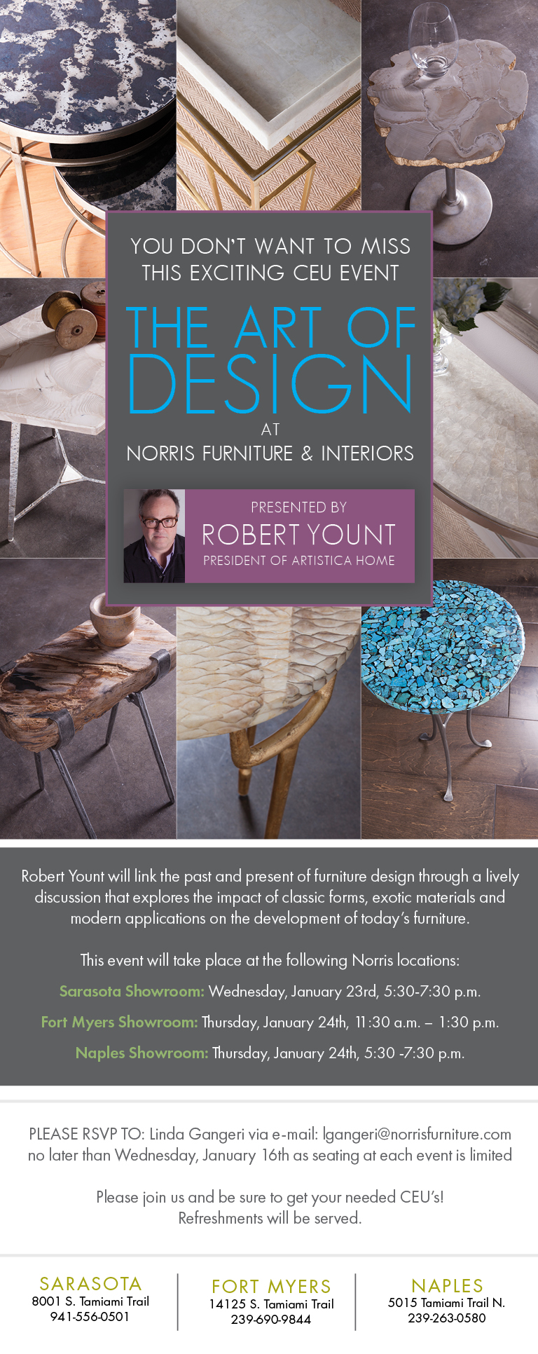 Events - Norris furniture interiors fort myers fl ...